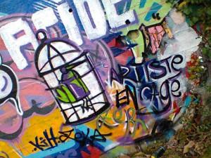 Graffiti Artiste encagé © ZeK