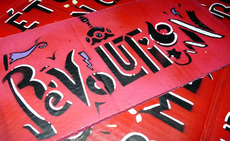Pancarte Révolution - ZeKa