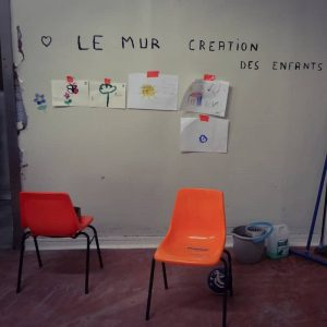 mur dessins d'enfants