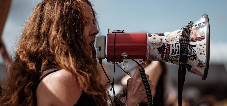 megaphone feminist