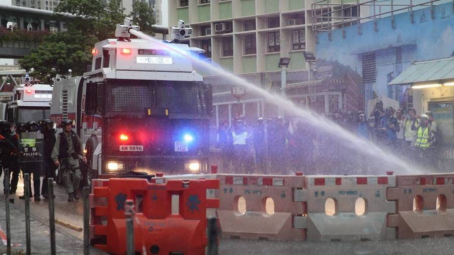Cerberus SIDES canon à eau antiémeutes répression Honk Kong