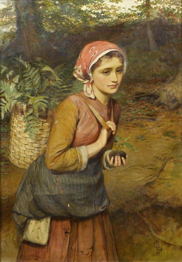 Charles Sillem Lidderdale - The fern gatherer 1877