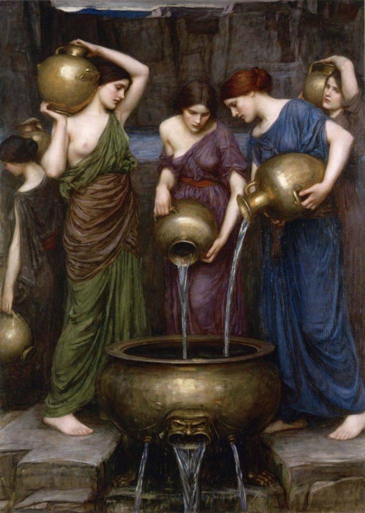 Le Tonneau de la Haine Charles Baudelaire peinture John William Waterhouse les Danaïdes 1903